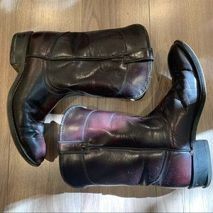 Laredo Oxblood Brown Leather Western Boots